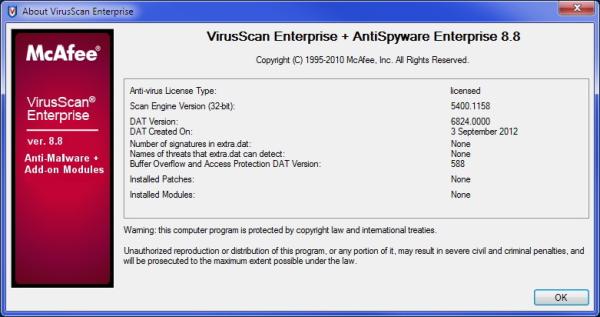 Mcafee virusscan enterprise version 8. 7i ensetiti's diary.